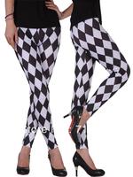 Women black white Leopard Striped plaid Printed Stretchy  Jeans Leggings Pants