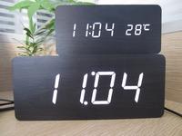 Big numbers Digital Clock,Top Quality Alarm Clocks With Temperature,Wooden Wood Table Clocks LED Display