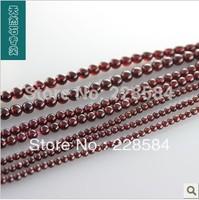 Mini order 12USD, 8MM Natural Red Garnet Loose Bead Strands Semi-Precious Stone 48 pcs/lot jewelry beads jewelry making