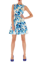 New Summer 2013 Women KM Fashion Floral Print Dress Sleeveless Beautiful Birthday Party Hot Sale Short Dress