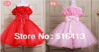 Free shipping 2014 Children dress flower girl dress for wedding party dress fleabane dress baby lovely princess pageant dress