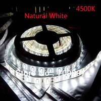 4500K nature white 20meters/lot 300LED 5630 SMD waterproof flexible DC12V LED Strip,60LED/m,98116 + free shipping