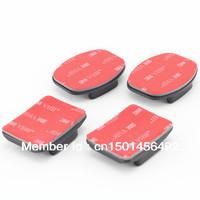 Free Shipping  2pcs Flat Adhesive Mount  + 2pcs Curved Adhesive Mount For GoPro Hero2 Hero3 hero3+ hero4 gopro accessories