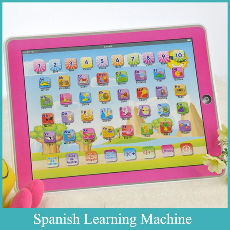 High Quality Y pad Spanish Language Kids Early Learning Machine Spanish Educational Toys Spanish Learning Machine Best Gifts(China (Mainland))