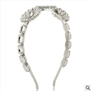 New 2014 Fashion Women Wedding Hair Accessories Crystal Bride Hairbands Glitter Headbands Vintage Jewelry Headwear  F090