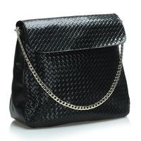 New 2014 Famous brands women Handbag Fashion Women clutch Weave Pattern Genuine Leather handbags messenger Bags Shoulder bag