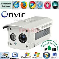 1.0 Megapixel HD Network Mini IR-Bullet Camera 1/4 CMOS P2P Outdoor ONVIF 2.0 version, nvr for ip camera h.264 ipc Security