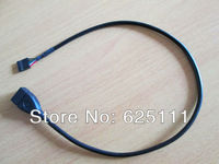 Free shipping Internal host Mainboard USB A 4pin single row female to female Extension Cable
