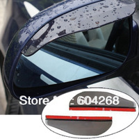 Free Shipping 2pcs/Lot Car Rain Shield Rear View Side Mirror Rain Shield Shower Blocker Cover Sun Visor Shade Guard
