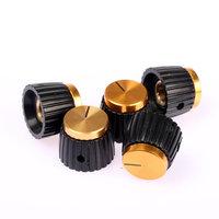 5 Pack Gold Color Cap Amplifier Knobs for MARSHALL Amp JCM 800 900 2000 JMP Plexi