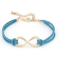 Fashion Infinity bracelet Eight cross bracelet bangle  Free shipping!