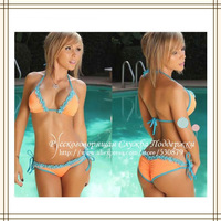Ladies' Sexy Lace Nulticolor Bikini Women Bathing Suit Swimsuit Swimwear Sunlun Russian Support  Free Shipping 2014 SCW-12004