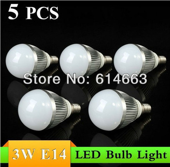 5pcs/lot Free Shipping 2013 new hot sales High quality E14 3W AC85~265V Cool White/Warm White LED Bulb Light Lamp