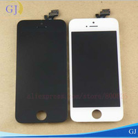 5 pcs/lot,For iPhone 5G LCD, good quality 100% warranty, LCD +Digitizer +frame,free shipping by DHL /EMS