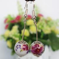 Jingdezhen ceramics Drop earrings Earhook wholesale jewelry  ED-061