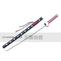 One piece Surgeon of Death Doctor Trafalgar Law Sword Nodachi wooden Cosplay prop 104cm red color version US AU Free shipping