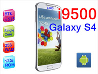 Free shipping New arrival original 1:1 Galaxy I9500 i9505 s4 phone MTK6575 Quad Core android 4.22 ram 512M   800 MHZ