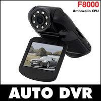 "F8000 Car DVR Full HD real 1080 30fps 2.0"" LCD CMOS Ambarella 5.0MP Car Camera Camcorder 120 Degree HDMI Russian"
