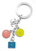 FK26 Circle Round  Bag Key Chain Fashion  Novelty Items Key Ring Keychain Free Shipping Wholesale Free Shipping