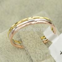 Italina brand new 2014 18K Platinum / rose / yellow Gold Classic design wedding rings for women jewelry