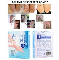 6pcs=3 pairs/lot CPAM free shipping Rolanjona bamboo milk smoothening foot mask feet care