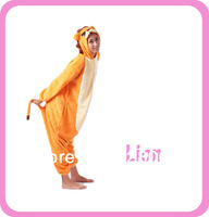 Lion Animal Onesies Cosplay Pajamas Halloween Carnival Costume One Piece for Adult