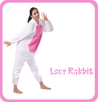 Comfortable White Love Rabbit Cosplay Pajamas Animal Onesie Costumes