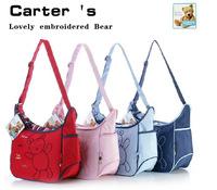 Hot Sell Carter Dipaer Bag Free Shipping Fashion Mommy Baby Bag Shoulder Mother Mummy Nappy Bag bear