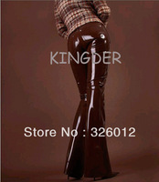 Sexy brown attractive latex trousers for women