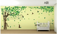 Free shipping Large size oversized family tree wall decal sticker custom colors sizes removable family tree vinyl wall art,f0332