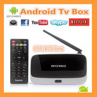Free shipping for Bluetooth version CS918 quad core tv box Android 4.2.2 2GB+8GB RK3188 CS918 TV BOX