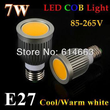 10pcs High Bright Dimmable GU5.3 E14 E27 7W 9W COB Led Bulbs Light 120 Angle GU10 Warm/Cool White Led Spotlights Lamp 110-240V