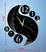 Min order 15 usd ( Mix items ) Acrylic 3D Mirror Effect LOVE Decal Wall Sticker Clock Mechanism Decoration