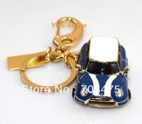 Deep Blue Mini Cute Car USB Drive 4GB 8GB 16GB 32GB Fashion keychain Memory Flash stick