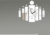 Free shipping New  wall clock modern design luxury mirror wall clock crystal mirror wall watches michael wall clocksZ059