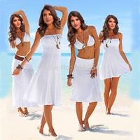 2014 New Fashion Summer Swimsuit Beach Dress Womens Bikini Outside Tie 11 Colors Multiple Wear Bikini Dress Plus Size S-XL