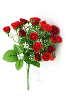 25 heads Artificial Rose  bouquet,simulation Rose bouquet,silk flower,4 colors availble,5 bouquets/lot.AC1307019