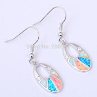 Fashionl Jewelry Wholesale & Retail Blue Fire Opal 925 Silver Dangle Earrings *Opal Jewelry OE203