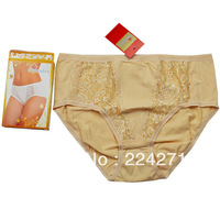 Women's briefs new 2013 big size plus underwear women cotton size L-XXXL high waist shorts hot selling LP112 Free Shipping