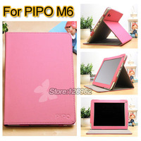 New Style Special PU leather Case For Pipo M6 Tablet PC High Quality  Gray/Pink/Green/Orange,Freeshipping for pipo M6 case