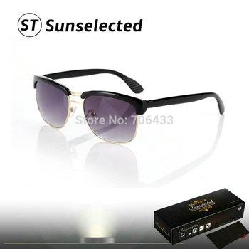 Free dropshipping New 2014 Fashion Glasses Men's Retro Sunglasses Brand Designer Sports Eyewear w/ Half jacket  sg98