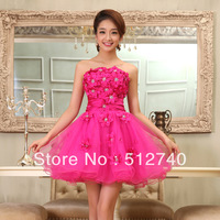 6 Free Shipping  High Quality  Fashion Bridesmaid Short Design Formal Dress Bride Dress Can Be Tailored