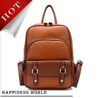 Free Shipping 2014 New Style PU Leather Bags, Waterproof School Bags For Teenagers, Top Cycling Backpack BB-S0033