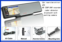 2013 Hot Sale!Rearview Mirror+GPS+Bluetooth+4GB maps+Wireless Reversing Camera Free Shipping