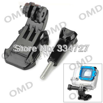 J-Shape Fast Assemble Plug with Standard 5.4cm Long Screw for Gopro Hero 3+ / 3/2/1- Black  Free Shipping