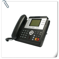 VoIP Phone / Asterisk SIP Phone, 3 SIP Lines & 1 IAX2 line, Support VPN, RJ9 headset.PoE,Conference Phone