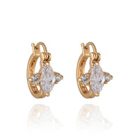 ER0252 New 2013  Fashion Jewelry  Drop Earrings 18K Gold Plated Inlay Zircon Crystal Dangle Earrings Beads Pearl Hot Selling
