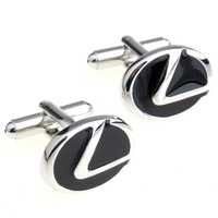 High Quality Brass Fashion Cars Emblem Custom Enamel Replica Cufflinks