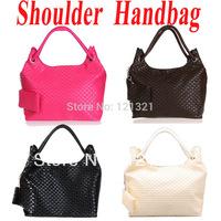 Simple Korean Style Lady Girls Hobo PU Leather Handbag Purse Shoulder Tote Bag , Free Shipping Dropshipping  MX87