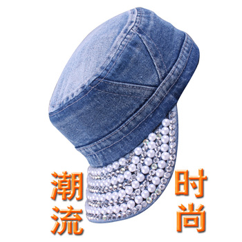 Pearl cap cowboy hat women's fashion cap personalized general lovers cap